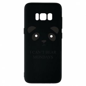 Phone case for Samsung S8 I can't bear mondays - PrintSalon