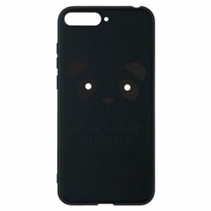 Phone case for Huawei Y6 2018 I can't bear mondays - PrintSalon