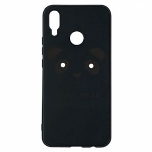 Phone case for Huawei P Smart Plus I can't bear mondays - PrintSalon
