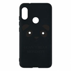 Phone case for Mi A2 Lite I can't bear mondays - PrintSalon