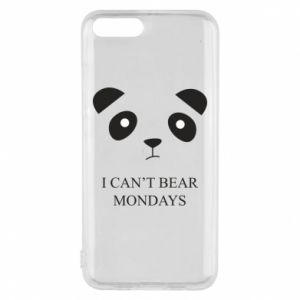 Phone case for Xiaomi Mi6 I can't bear mondays - PrintSalon
