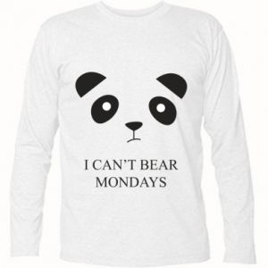 Long Sleeve T-shirt I can't bear mondays - PrintSalon