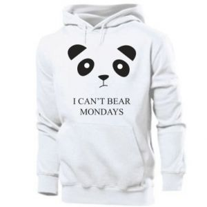 Men's hoodie I can't bear mondays - PrintSalon