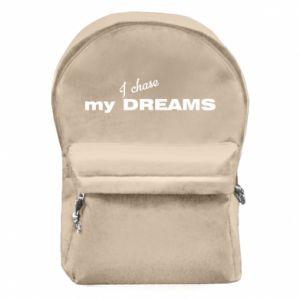 Plecak z przednią kieszenią I chase my dreams