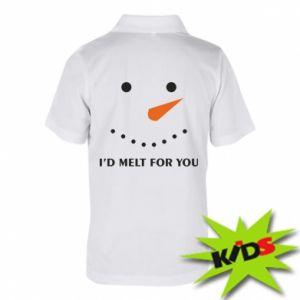 Dziecięca koszulka polo I'd melt for you