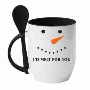 Kubek z ceramiczną łyżeczką I'd melt for you