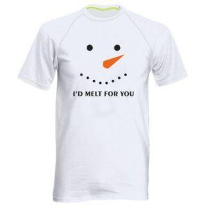 Męska koszulka sportowa I'd melt for you