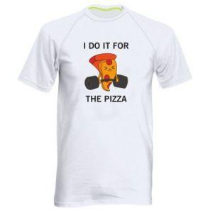 Koszulka sportowa męska I do it for the pizza