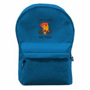 Plecak z przednią kieszenią I do it for the pizza