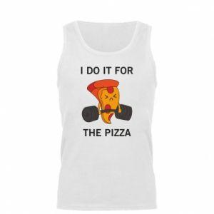 Koszulka męska I do it for the pizza