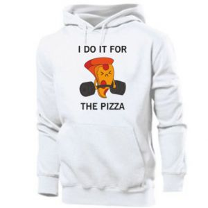 Męska bluza z kapturem I do it for the pizza