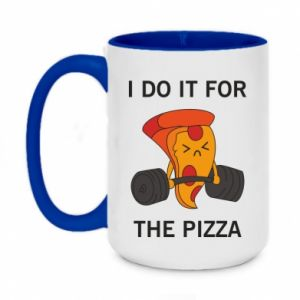 Two-toned mug 450ml I do it for the pizza