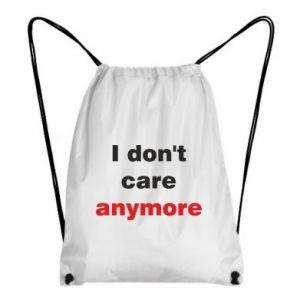 Plecak-worek I don't care anymore