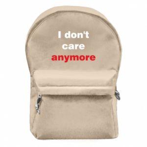 Plecak z przednią kieszenią I don't care anymore