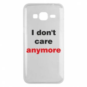 Etui na Samsung J3 2016 I don't care anymore