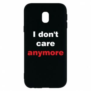 Etui na Samsung J3 2017 I don't care anymore