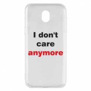 Etui na Samsung J5 2017 I don't care anymore