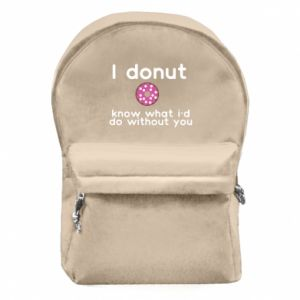 Backpack with front pocket I donut know what i'd do without you