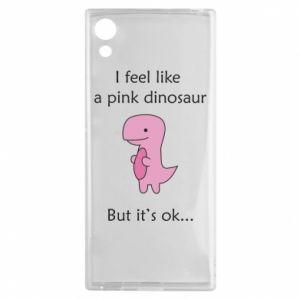 Etui na Sony Xperia XA1 I feel like a pink dinosaur but it's ok