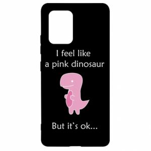 Etui na Samsung S10 Lite I feel like a pink dinosaur but it's ok