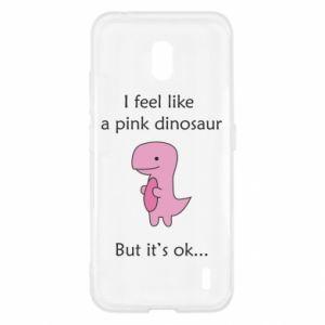 Etui na Nokia 2.2 I feel like a pink dinosaur but it's ok