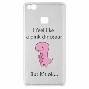 Etui na Huawei P9 Lite I feel like a pink dinosaur but it's ok