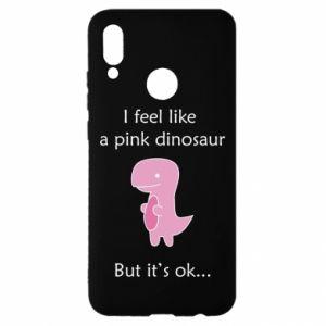 Etui na Huawei P Smart 2019 I feel like a pink dinosaur but it's ok