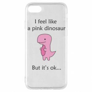 Etui na iPhone SE 2020 I feel like a pink dinosaur but it's ok