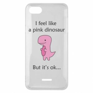 Phone case for Xiaomi Redmi 6A I feel like a pink dinosaur but it's ok