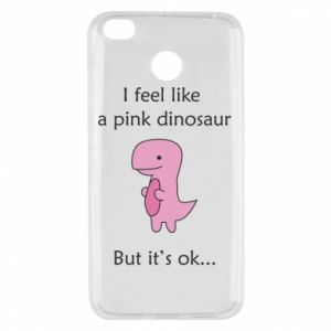 Etui na Xiaomi Redmi 4X I feel like a pink dinosaur but it's ok