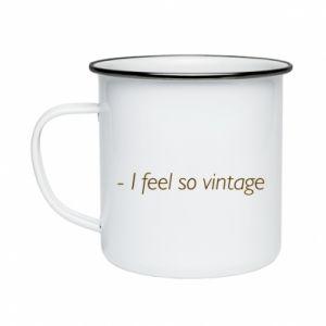 Kubek emaliowany -I feel so vintage