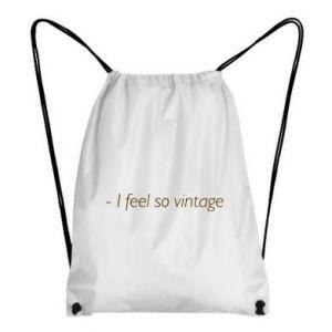 Plecak-worek -I feel so vintage