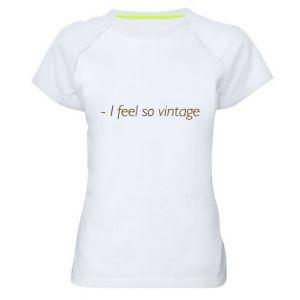Koszulka sportowa damska -I feel so vintage