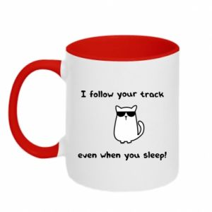 Kubek dwukolorowy I follow your track even when you sleep!