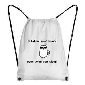 Backpack-bag I follow your track even when you sleep!