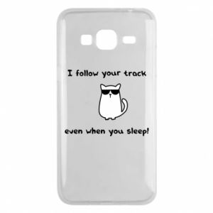 Phone case for Samsung J3 2016 I follow your track even when you sleep!