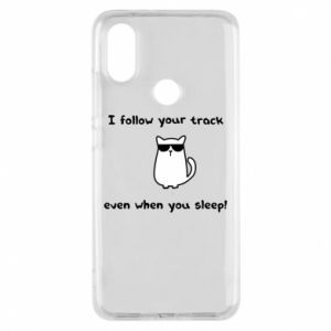 Phone case for Xiaomi Mi A2 I follow your track even when you sleep!