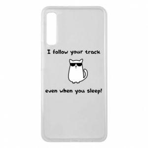 Samsung A7 2018 Case I follow your track even when you sleep!