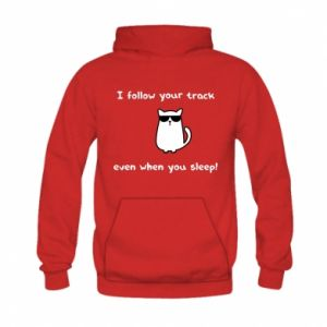 Kid's hoodie I follow your track even when you sleep!