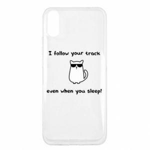 Xiaomi Redmi 9a Case I follow your track even when you sleep!