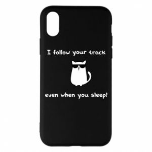 Etui na iPhone X/Xs I follow your track even when you sleep!