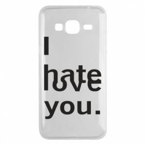 Phone case for Samsung J3 2016 I hate/love you