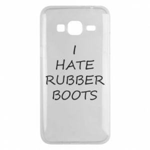Etui na Samsung J3 2016 I hate rubber boots