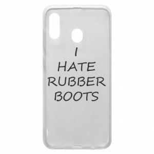 Etui na Samsung A20 I hate rubber boots