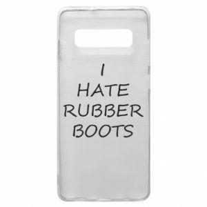Etui na Samsung S10+ I hate rubber boots