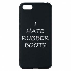 Etui na Huawei Y5 2018 I hate rubber boots
