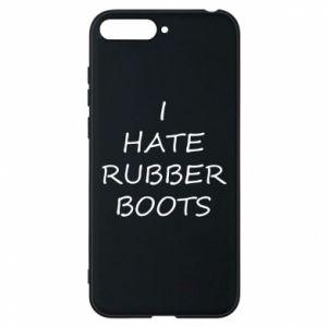 Etui na Huawei Y6 2018 I hate rubber boots