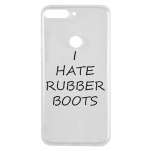 Etui na Huawei Y7 Prime 2018 I hate rubber boots