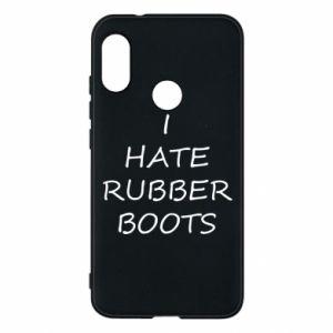 Etui na Mi A2 Lite I hate rubber boots