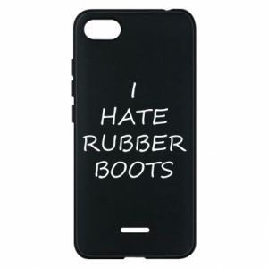 Etui na Xiaomi Redmi 6A I hate rubber boots